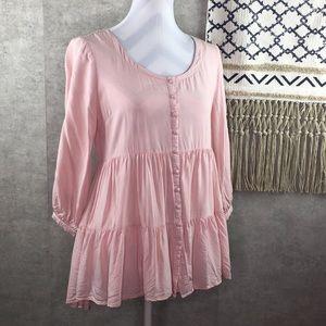 Umgee Babydoll Tunic Dress Size Small